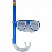 Kit Snorkel Infantil Máscara Azul CBRN15184