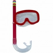 Kit Snorkel Infantil Piscina Vermelho CBRN15245
