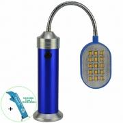 Lanterna de LED Flexível com Imã 30 LEDS Azul + Chaveiro CBRN16365