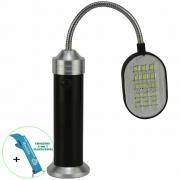 Lanterna de LED Flexível com Imã 30 LEDS Preto + Chaveiro CBRN16372
