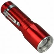 Lanterna Tática LED com Zoom a Pilhas Vermelho CBRN16587