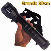 Lanterna Tática Led Cree grande com alça bussola a Pilhas 30cm CBRN01521