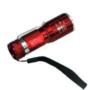 Lanterna Tática Policial Led Cree Pilhas 10cm DS-1716 Vermelho
