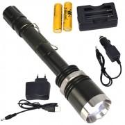 Lanterna Tática Policial LED CREE T6 Recarregável Zoom CBRN15337
