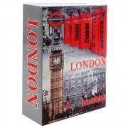 Cofre Livro Aço Book Safe 24 cm London