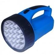 Luminária de Emergência LED Lanterna LED-1706 com 19 LEDS AZUL