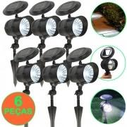 Luminária Solar para Jardim Spot 4 leds 6 peças CBRN13142