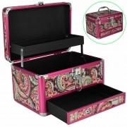 Maleta Para Maquiagem e Joias Frasqueira Mandala Indiana Pink CBRN12626