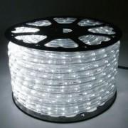 Mangueira Luminosa LED Branco Corda Natal Pisca Rolo 100mt 110v - 1090