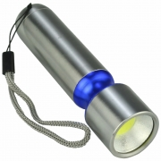 Mini Lanterna de LED COB a Pilhas Azul CBRN16518