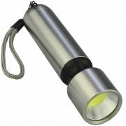 Mini Lanterna de LED COB a Pilhas Preto CBRN16532