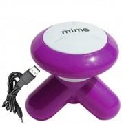 Mini Massageador Vibrador USB ou Pilhas MIMO Roxo CBRN0913