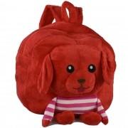 Mochila infantil Pelucia 3D Cachorro Vermelho CBRN07356
