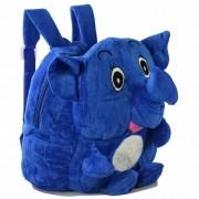 Mochila infantil Pelucia 3D elefante fofo azul CBRN07578