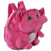 Mochila infantil Pelucia 3D elefante fofo pink CBRN07585