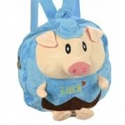 Mochila infantil Pelucia 3D porquinho azul CBRN07646