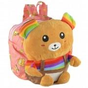 Mochila infantil Pelucia 3D urso rosa CBRN07639