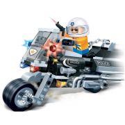 Brinquedo Moto Policial 140 Peças em Blocos de Montar CBRN0890
