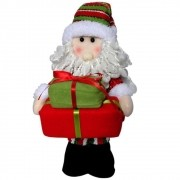 Papai Noel de Pelúcia com Presentes com 35cm de Altura CBRN0340 CD0050