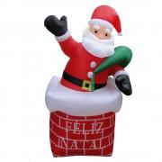 Papai Noel na Chaminé Inflável 1,80m Iluminado - 1582