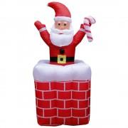 Papai Noel na Chamin� Infl�vel Sobe Desce 1,80m - 1584