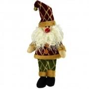 Papai Noel Pelúcia Luxo Natal 30cm CBRN14613