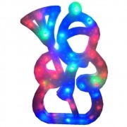 Pisca Pisca Boneco de Neve 35 Leds 110VOLTS RGB Colorido 42cm de Altura CBRN0678