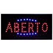 Placa Led Quadro Letreiro Luminoso Aberto CBRN02320 CD1609-3