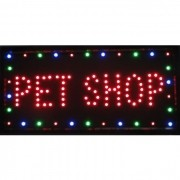 Letreiro luminoso de Led 110v Pet Shop 1603