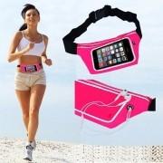 Pochete cinto porta celular fitness Corrida até 5.5 Pol Impermeável ROSA CBRN02054