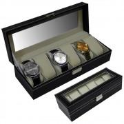 Porta relogios Estojo para 6 peças luxo CBRN05550