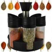 Porta Temperos Condimentos Giratório 6 Potes de Acrílico CBRN15801