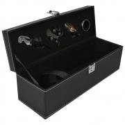 Porta Vinho Estojo 4 Acessórios Luxo CBRN18208