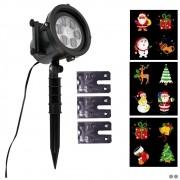 Projetor LED Natal Multi Cores 3 Slides 12 Imagens CBRN15405