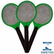Raquete elétrica mata mosquito kit 3 peças Verde CBRN05598