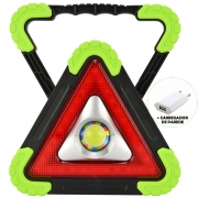 Refletor LED 15W Triângulo Portátil Recarregável LED COB Verde + Carregador CBRN16358