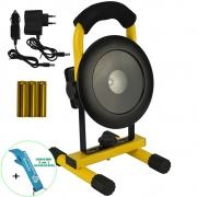 Refletor LED 30W Portátil Recarregável Redondo LED CREE T6 IP65 + Chaveiro CBRN16471