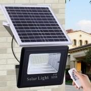 Refletor Solar LED holofote Recarregável 60W + contr remoto CBRN10608