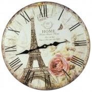 Relógio de Parede Estilo Rústico Paris CBRN07097