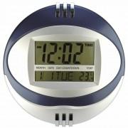 Relógio de Parede Mesa Redondo Digital Azul CBRN11612