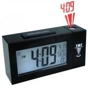 Relogio projetor de horas digital com termometro alarme preto CBRN02801