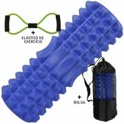 Rolo De Liberação Miofascial Massageador Yoga Azul CBRN15672