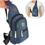 Shoulder Bag Mochila Transversal Bolsa Unisex Azul 02 CBRN12251