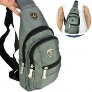 Shoulder Bag Mochila Transversal Bolsa Unisex Cinza 02 CBRN12282
