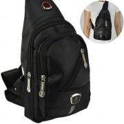 Shoulder Bag Mochila Transversal Bolsa Unisex Preto 05 CBRN12343