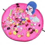 Tapete Sacola Saco Bolsa Organizador de Brinquedos Multiuso Pink CBRN13784