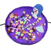 Tapete Sacola Saco Bolsa Organizador de Brinquedos Multiuso Roxo CBRN13821