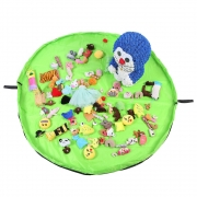 Tapete Sacola Saco Bolsa Organizador de Brinquedos Multiuso Verde CBRN13814