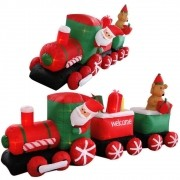 Trem Inflável Decoração de Natal 2,70 Iluminado BiVolt CBRN0579 CD1560