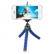 Tripé Para Celular Flexivel E Camera Azul CBRN08735